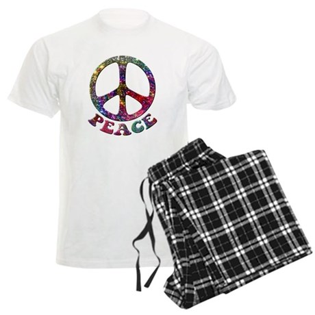 Jewelled Peace Symbol Men's Light Pajamas