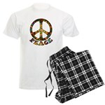 Painted Peace Symbol Men's Light Pajamas
