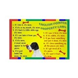 Cute English law Rectangle Magnet