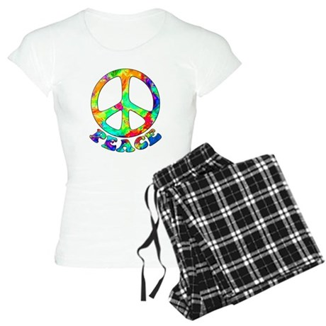 Rainbow Pool Peace Symbol Women's Light Pajamas
