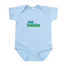 No Hablo Blue Body Suit