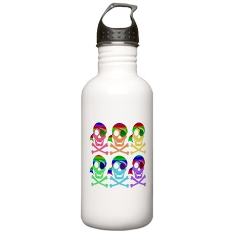 Rainbow Pirate Skulls Stainless Water Bottle 1.0L