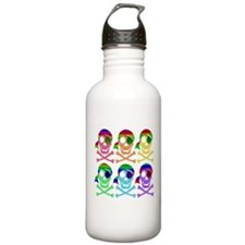 Rainbow Pirate Skulls Water Bottle