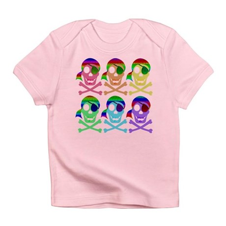 Rainbow Pirate Skulls Infant T-Shirt