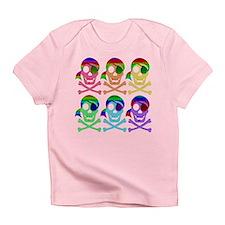 Rainbow Pirate Skulls Infant T-Shirt