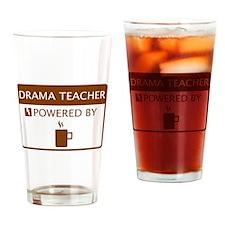 Drama Teacher Powered by Coffee Drinking Glass
