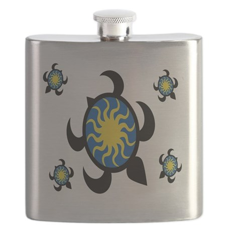 Sun Turtles Flask