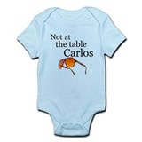 Cute Not at the table Infant Bodysuit