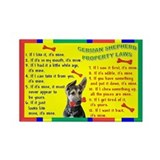Cute German shepherd dog Rectangle Magnet