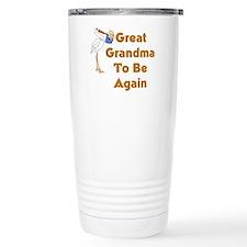 Stork Great Grandma To Be Again Travel Mug