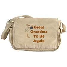 Stork Great Grandma To Be Again Messenger Bag