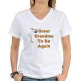 Stork Great Grandma To Be Again Shirt