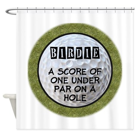 Golf Birdie Shower Curtain by sportsnuts