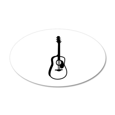 Guitar 38.5 x 24.5 Oval Wall Peel