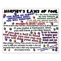 Murphy's Laws of Pool Small Poster