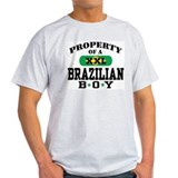Property of a Brazilian Boy Ash Grey T-Shirt