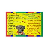 Cute German shorthaired pointer christmas Rectangle Magnet (10 pack)