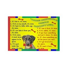 Cute German shorthaired pointers Rectangle Magnet