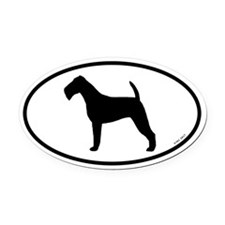 Irish Terrier Oval Car Magnet