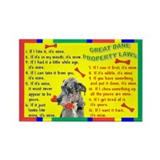 Cute Blue merle Rectangle Magnet (10 pack)