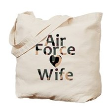 Air Force Wife Heart Camo Tote Bag