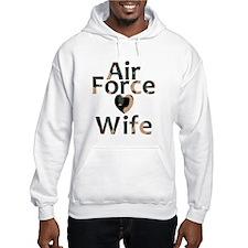 Air Force Wife Heart Camo Hoodie
