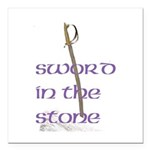 SWORD IN THE STONE Square Car Magnet 3