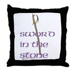 SWORD IN THE STONE Throw Pillow