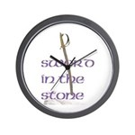 SWORD IN THE STONE Wall Clock
