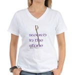 SWORD IN THE STONE Women's V-Neck T-Shirt