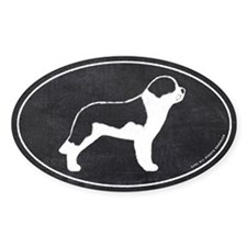 Saint Bernard Chalk Style Sticker (oval)