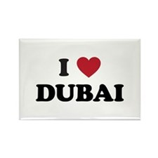 I Love Dubai Rectangle Magnet