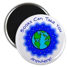 "Books Can Take You 2.25"" Magnet (10 pack)"