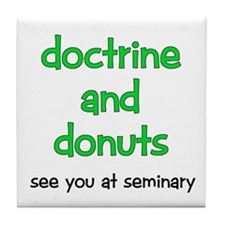 LDS Seminary Donuts Tile Coaster