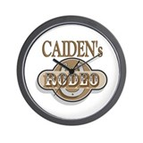 Caiden's Rodeo Personalized Wall Clock