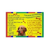 Cute Golden retriever items Rectangle Magnet