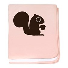 Squirrel with Nut baby blanket