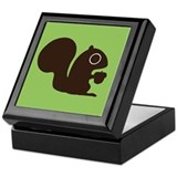 Squirrel with Nut Keepsake Box