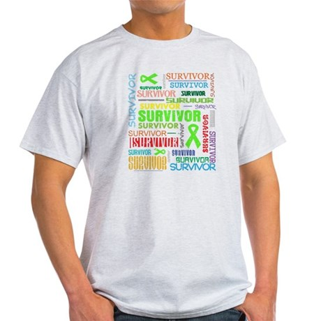 Survivor Colorful Lymphoma Light T-Shirt
