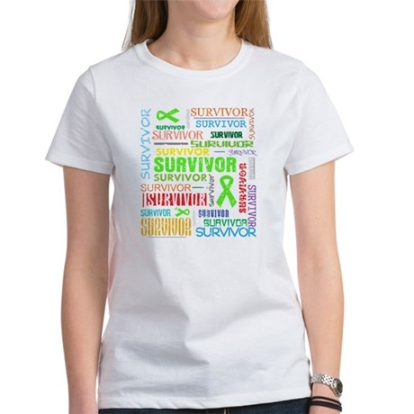 Survivor Colorful Lymphoma Women's T-Shirt