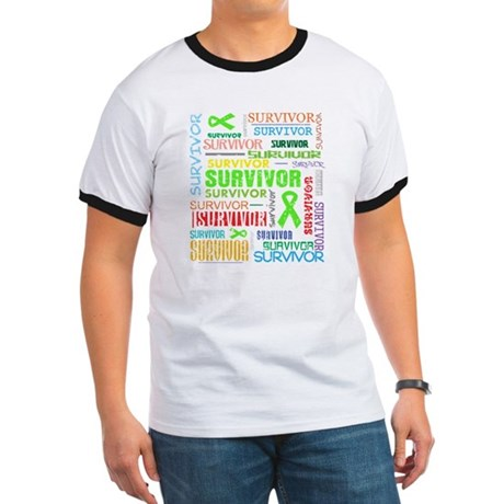 Survivor Colorful Lymphoma Ringer T