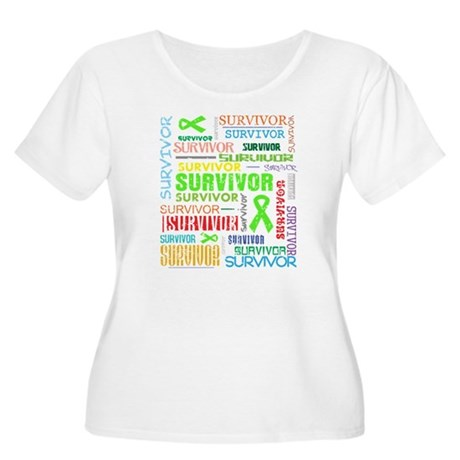 Survivor Colorful Lymphoma Women's Plus Size Scoop