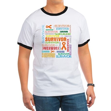 Survivor Colorful Kidney Cancer Ringer T