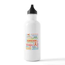 Survivor Colorful Kidney Cancer Water Bottle