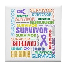 Survivor Hodgkin Disease Tile Coaster