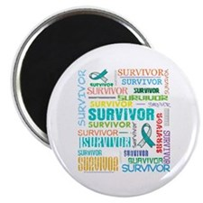 Survivor Colorful Cervical Cancer Magnet