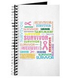 Survivor Colorful Breast Cancer Journal