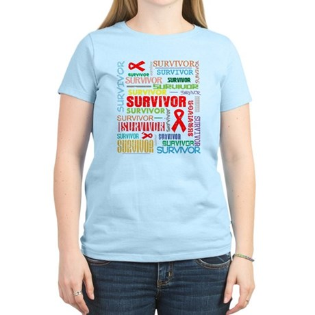 Survivor Colorful Blood Cancer Women's Light T-Shi