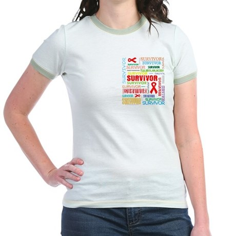 Survivor Colorful Blood Cancer Jr. Ringer T-Shirt