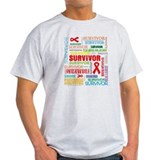 Survivor Colorful Blood Cancer T-Shirt